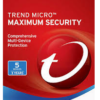 Trend Micro Maximum Security 2020 Version (5 Devices - 3 Years)